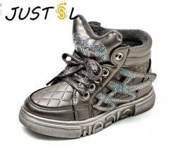 Модная,  утепленная,  зимняя детская обувь с...