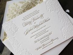 Пригласительные на свадьбу высокой печатью с каллиграфией Luxury 004