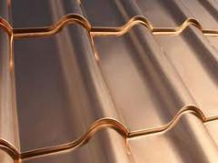 Sheets are roofing. Copper roofing, Kiev. Copper