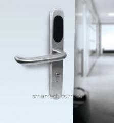 Электронный замок SmarTech Lavvina, для метало пластиковых дверей,  карточный автономный замок, карточки в комплекте, работает в паре с любым механическим замком.
