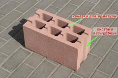 The block is cement, keramzitobetonny