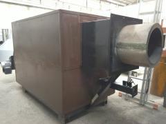 Heatgenerator of hot air, firm types of fuel