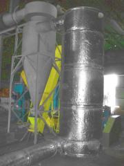 Сушка для опилки, соломы, торфа и другой биомассы
