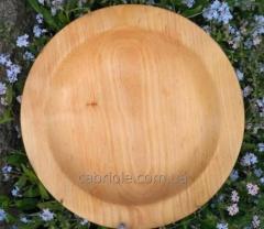 Деревянная тарелка из ольхи