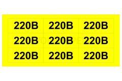 """Знаки желтые """"220В"""""""