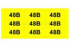 """Знаки желтые """"48В"""""""