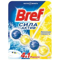 Means for toilet Bref 50 g balls aktiv Lemon 1/16