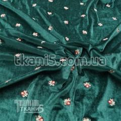 Fabric Stretch velvet embroidery (bottle)