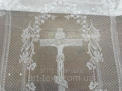 Покрывало тюлевое церковное с крестом