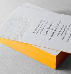 Пригласительные на свадьбу покраска торцов