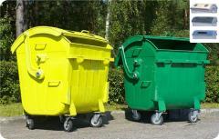 Контейнер для сбора мусора, бумага, стекло,