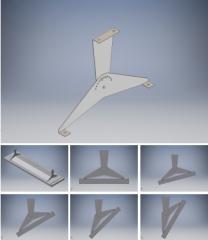 Wall bracket for swivel P3000 / 4000