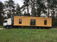 Mobile, modular wooden house from the manufacturer