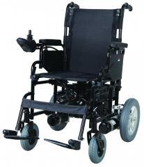Коляска инвалидная, с двигателем, складная