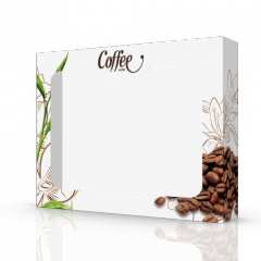 Коробка картонная для полотенец cofee white...