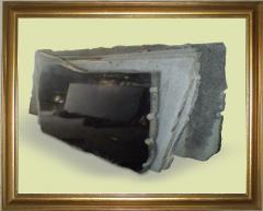 The gabbro slabs which are not edged and edged