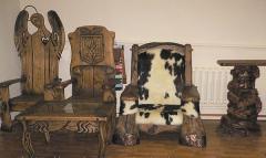 Semi-antique furniture wooden, furniture the made