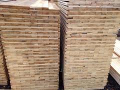 Паллетная заготовка полу брус- плаху сухостой лиственные породы