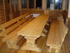 Мебель из бревен. Мебель деревянная садовая.