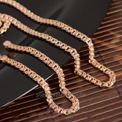 Позолоченный комплект: цепочка плетение