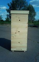 Three corps Langstroth-Ruta beehive