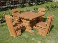 Мебель деревянная садовая.
