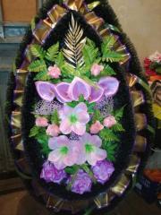 Венок украшенный двойной ёрш №2