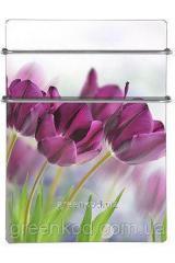 Стеклокерамические полотенцесушители HGlass IGH 5070W,F Premium (белый, фотопечать), (500*700*8)