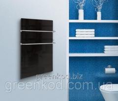 Стеклокерамические полотенцесушители HGlass IGH 5070B,M Basic (черный, зеркальный), (500*700*8)