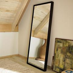 Mirror in a wooden frame, production of mirrors