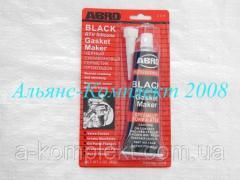 Герметик АБРО (ABRO) (черный, силиконовый, прокладок)