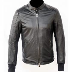 Стильная мужская кожанная курточка из мягкой кожи,
