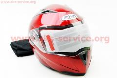 Шлем закрытый с откидным подбородком+очки HF-118