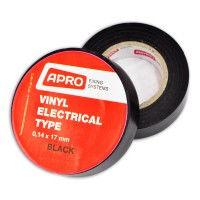 Изолента APRO 0,14мм*17мм*10м (черная)