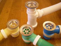 Mini-siphons plastic for bathtubs, sinks and