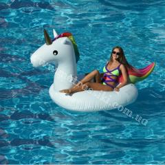 Надувной плавательный матрас Радужный Единорог