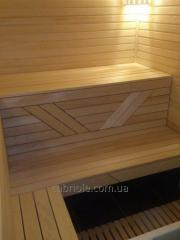 Sauna shelves