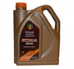 Синтетическое моторное масло Optimal Synthetic 5W40, 4л