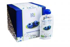 Blueberry paste is made from 100% fruit