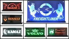 Бегущие светящиеся  логотип и анимация, часы