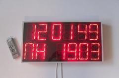 Светодиодные часы -календарь