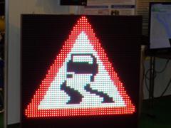 Светодиодные дорожные знаки активные