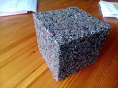 Ceramic oolymer facing tile