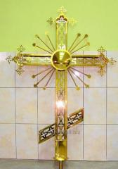 Cross from stainless steel with a covering under