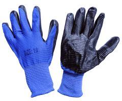 Перчатка стрейчевая синяя с черной ребристой