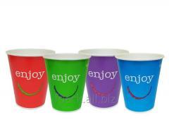 Стакан паперовий для холодних напоїв, Enjoy, мікс кольорів, 300мл