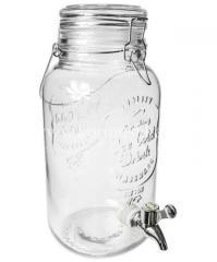 Лимонадница 4 л с стеклянной крышкой