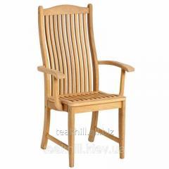 Садовый стул к обеденному столу из дерева с