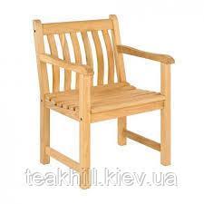 Массивные обеденные садовые стулья-кресла из дуба