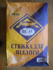 Cement tie of a floor